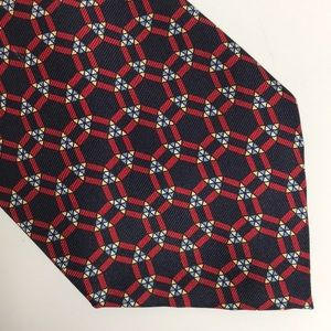 Polo Ralph Lauren Navy Red Silk Tie